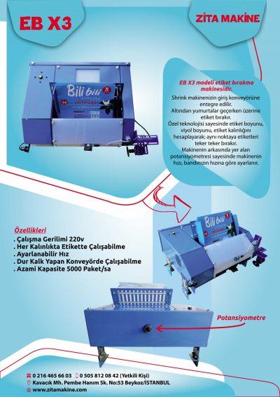EB X3 Kağıt Bırakma Makinesi
